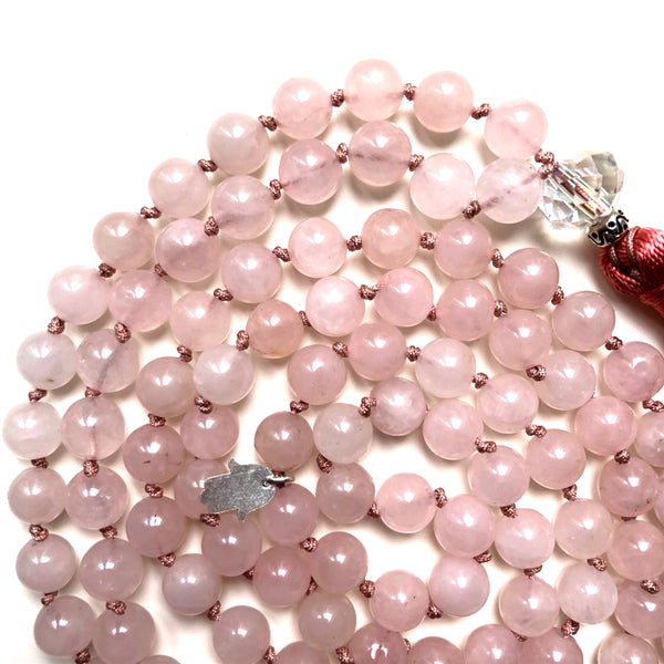 Rose Quartz Mala Beads, 108 Mala, Mala Necklace, Yoga Jewelry, Self Love