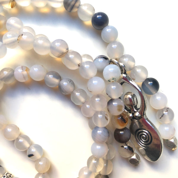 Sardonyx Mala Beads, Venus Goddess, 108 Mala, Mala Necklace, Yoga Jewelry, Meditation Beads