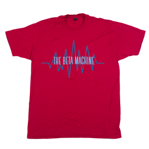 The Beta Machine - Red Heartwave T-Shirt