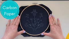 how to use carbon paper to transfer embroidery patterns