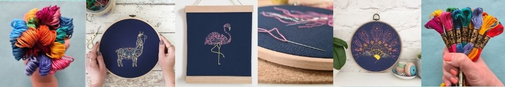 Banner picture showing multiple embroidery designs by Paraffle