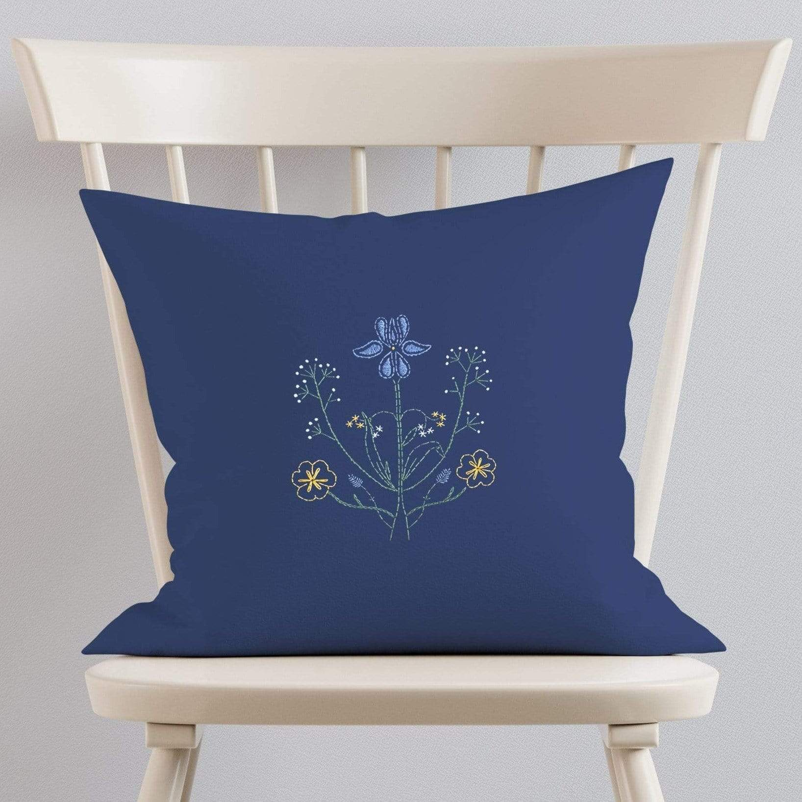 Paraffle Embroidery Cushion Embroidery Kit Botanicals Cushion Kit & Pattern