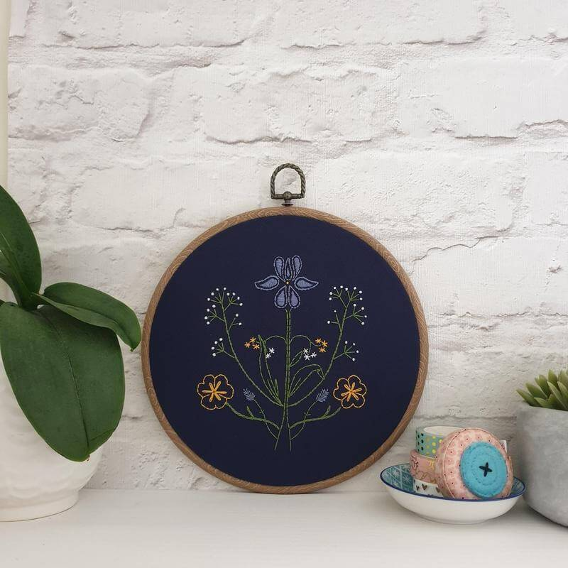 Paraffle Embroidery Pattern Botanicals Embroidery Pattern