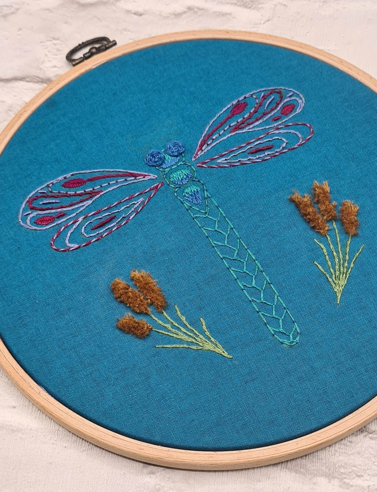 Paraffle Embroidery Pattern Dragonfly Embroidery Pattern