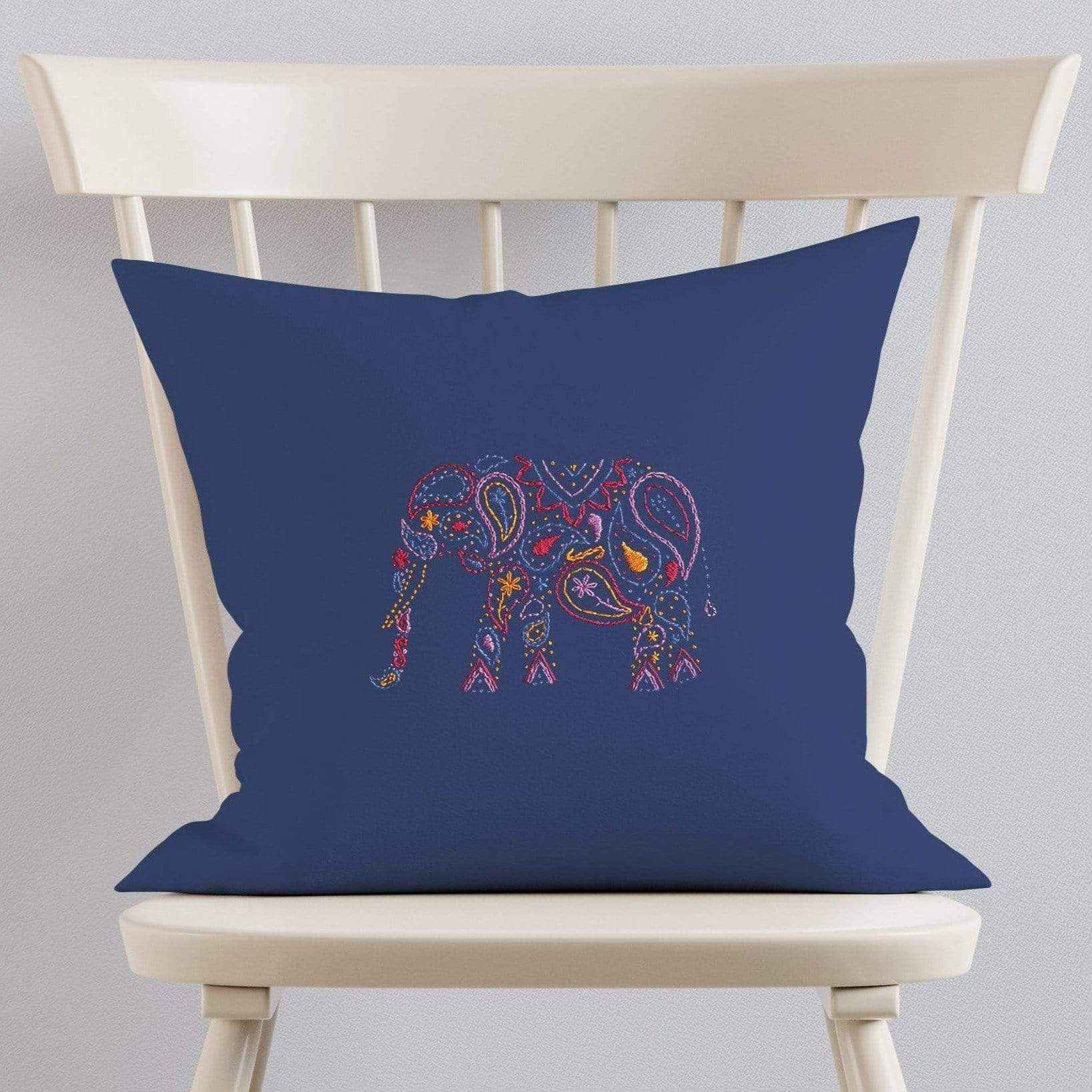 Paraffle Embroidery Cushion Embroidery Kit Elephant Cushion Kit & Pattern