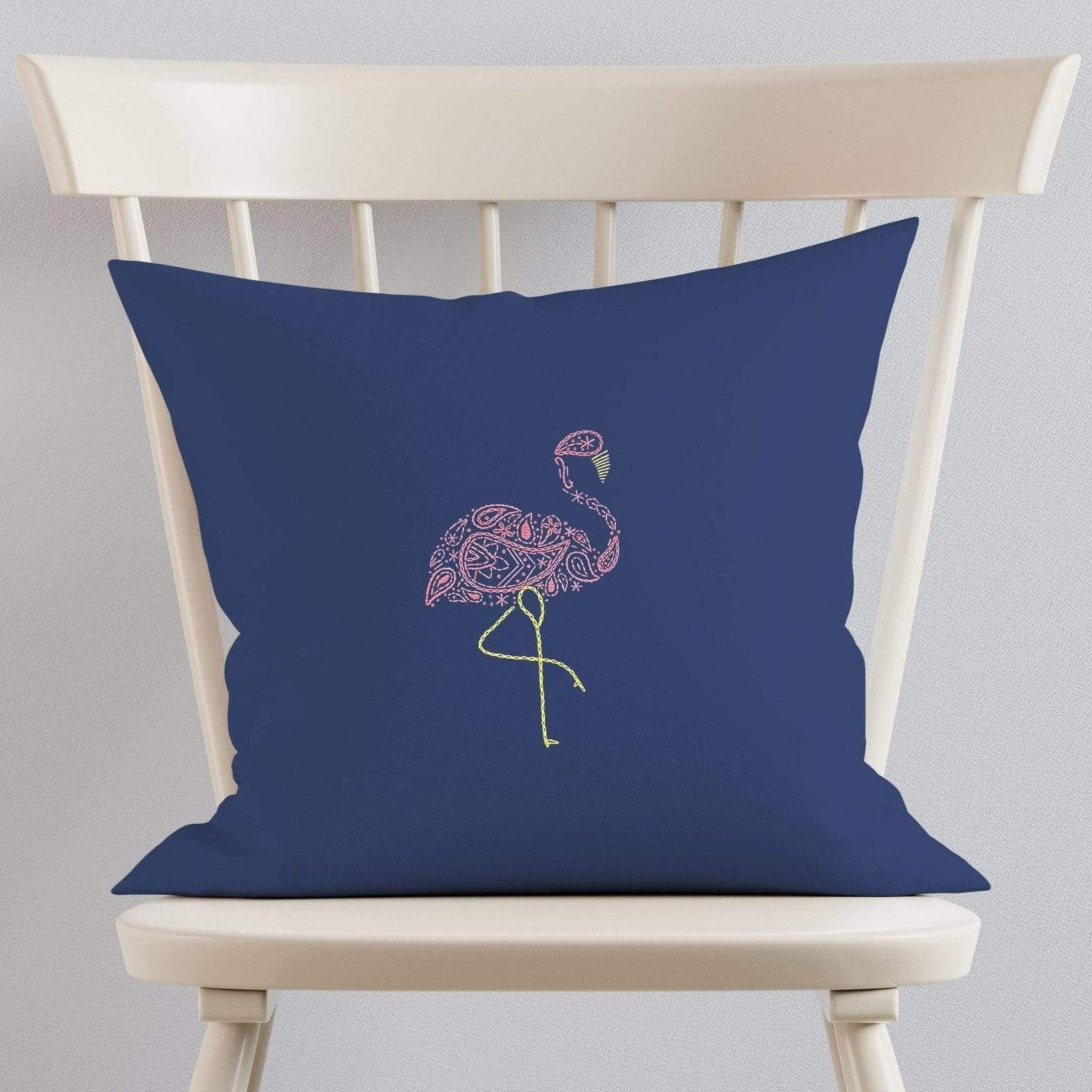 Paraffle Embroidery Cushion Embroidery Kit Flamingo Cushion Kit & Pattern