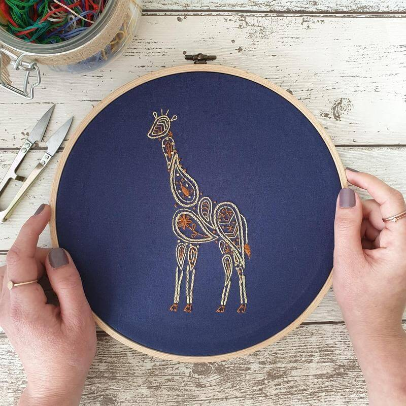 Paraffle Embroidery Banner Embroidery kit Giraffe Banner Embroidery Kit
