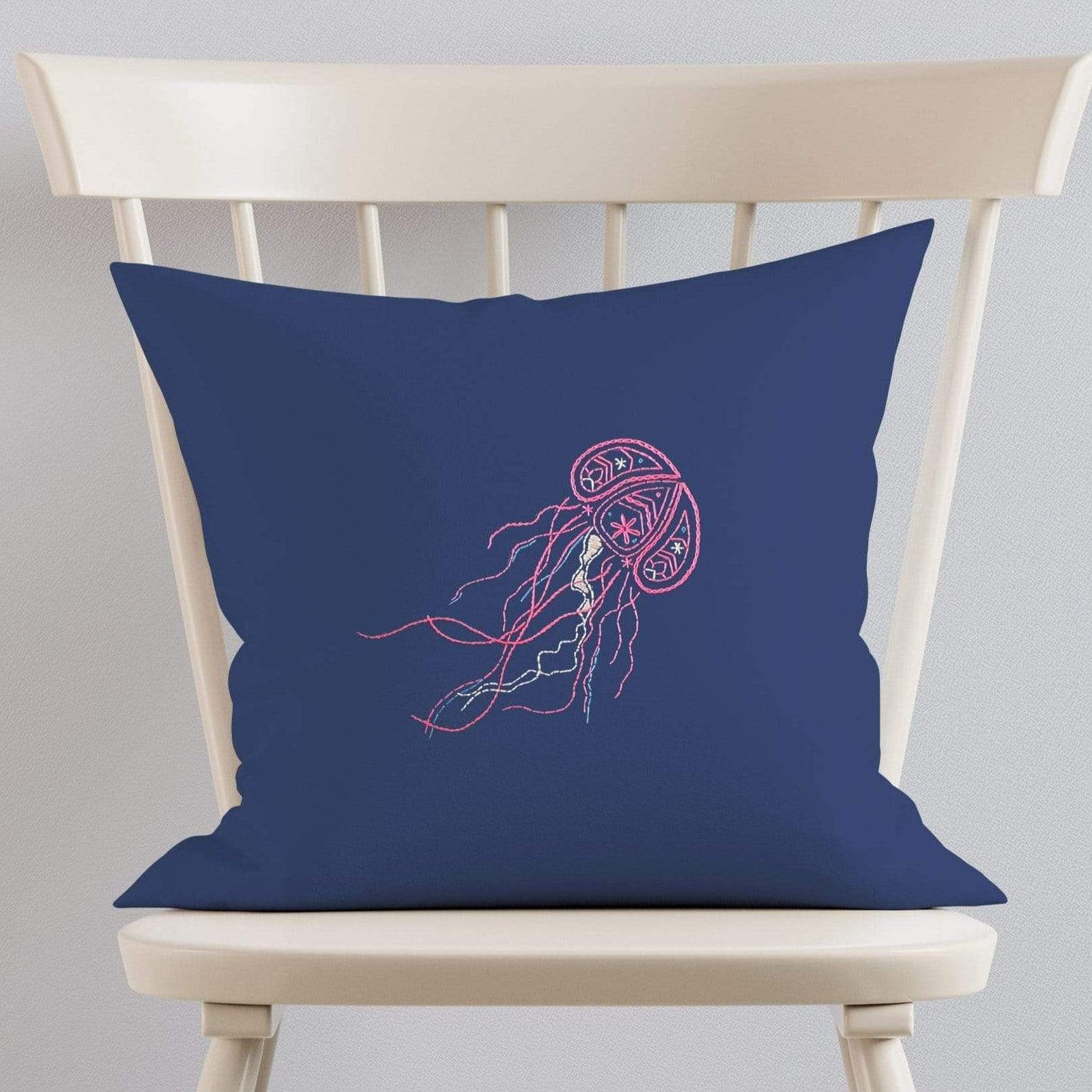 Paraffle Embroidery Cushion Embroidery Kit Jellyfish Cushion Kit & Pattern