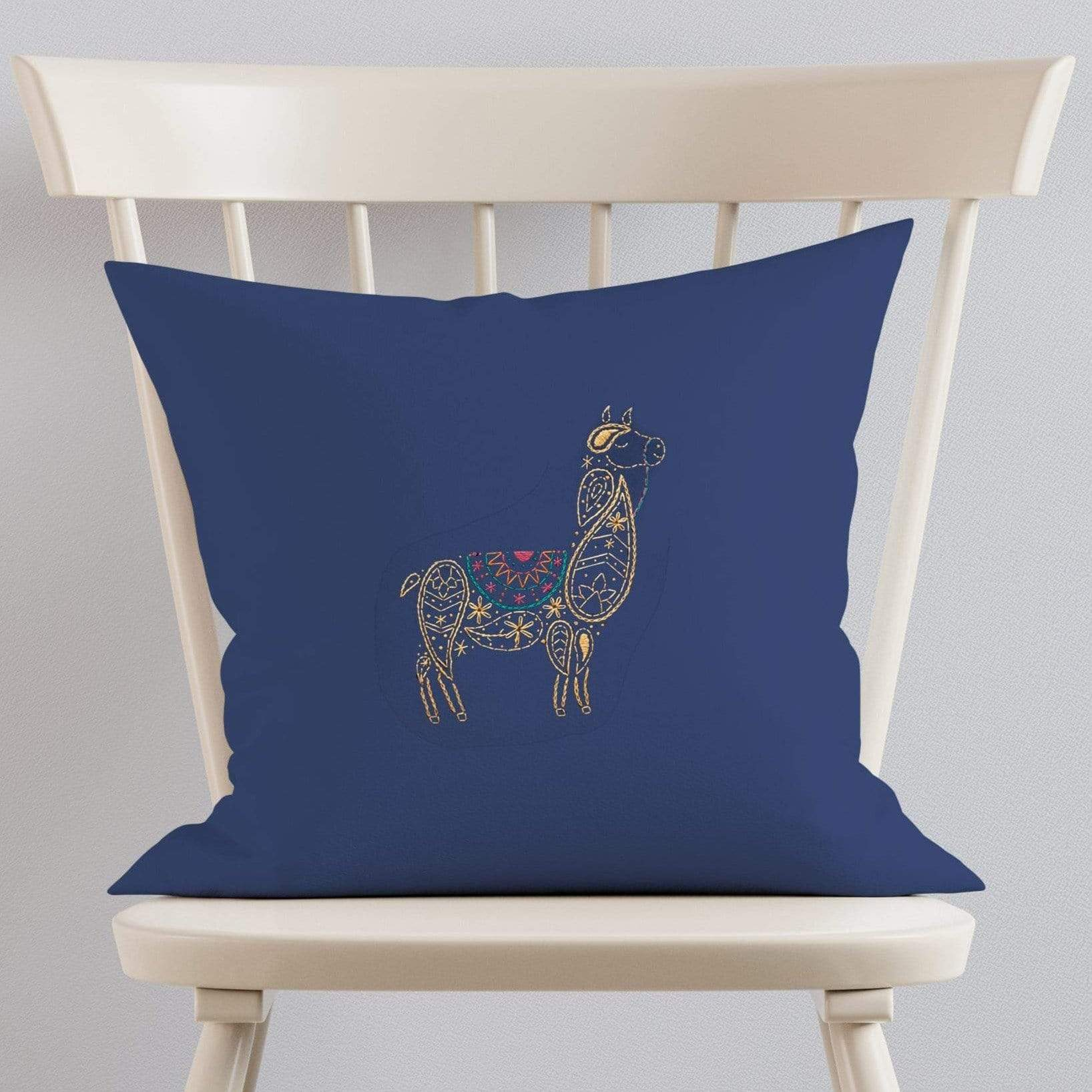 Paraffle Embroidery Cushion Embroidery Kit Llama Cushion Kit & Pattern