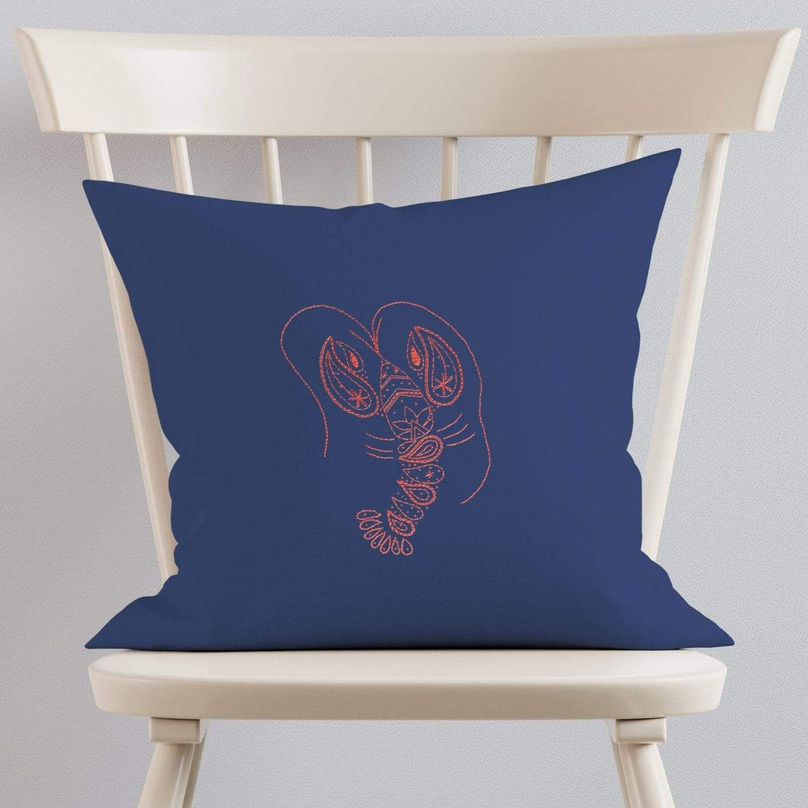 Paraffle Embroidery Cushion Embroidery Kit Lobster Cushion Kit & Pattern