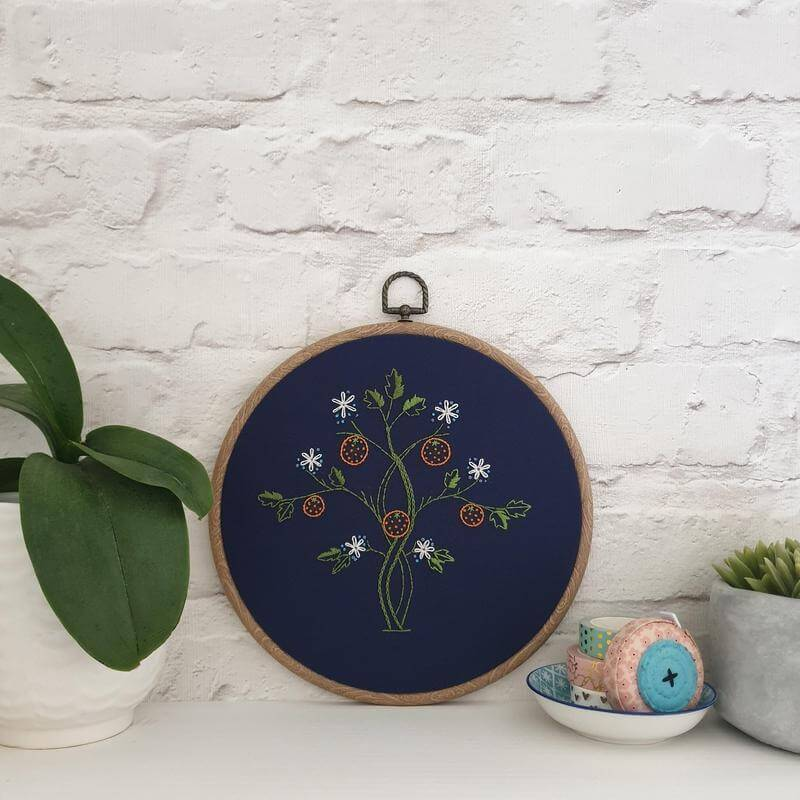 Paraffle Embroidery Pattern Orange Tree Embroidery Pattern