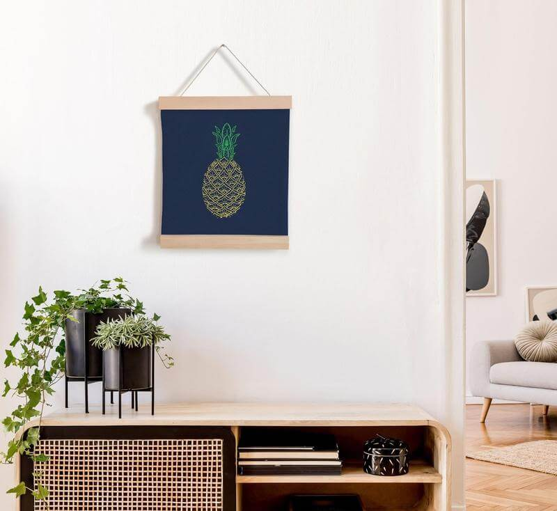 Paraffle Embroidery Banner Embroidery kit Pineapple Banner Embroidery Kit