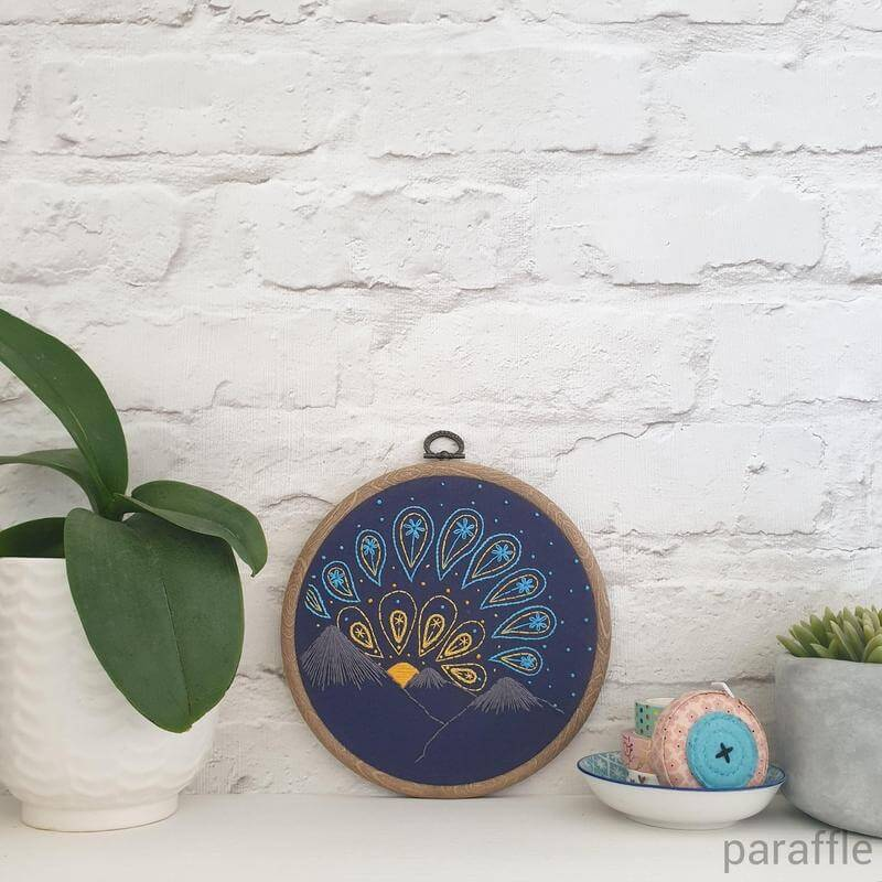 Paraffle Embroidery Pattern Sunrise Embroidery Pattern
