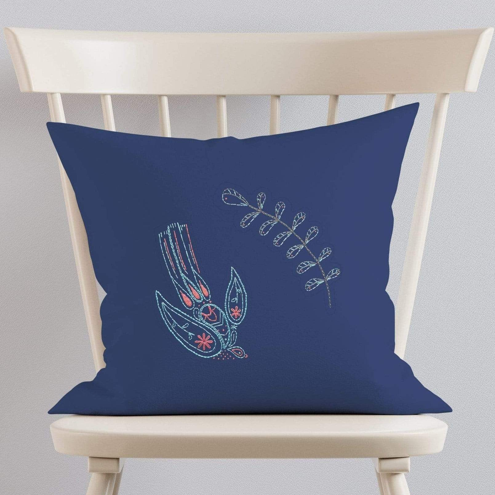 Paraffle Embroidery Cushion Embroidery Kit Swallow Cushion Kit & Pattern