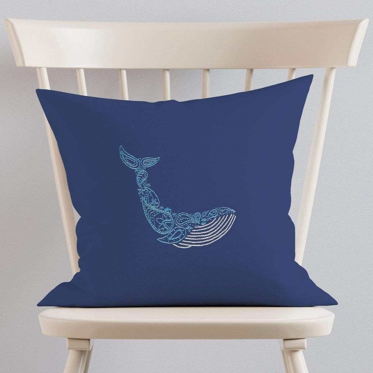 Paraffle Embroidery Cushion Embroidery Kit Whale Cushion Kit & Pattern