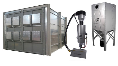 BEST SELLER! 10' X 10' X 15' Blast Room with Vacuum Reclaim System