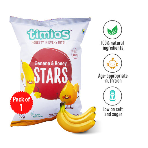 Timios Banana & Honey Stars 30g