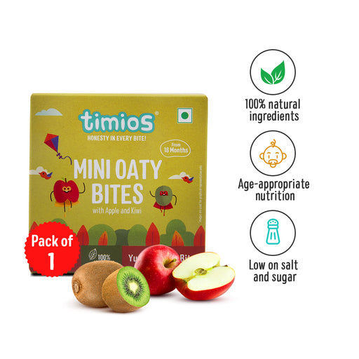 Timios Mini Oaty Bites - Apple & Kiwi