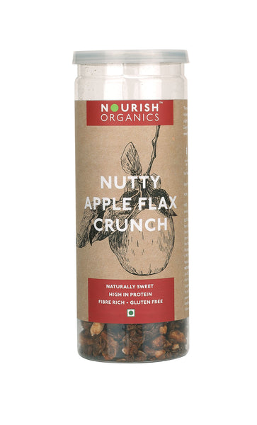 Nourish Organics - Nutty Apple Flax Crunch 90g