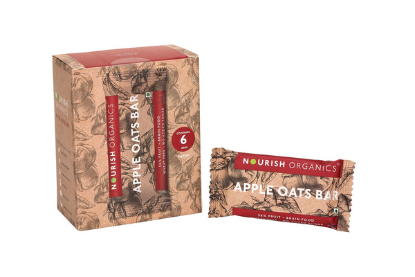 Nourish Organic's Apple Oats Bar 30G