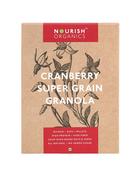 Nourish Organics - Cranberry Super Grain Granola 300g