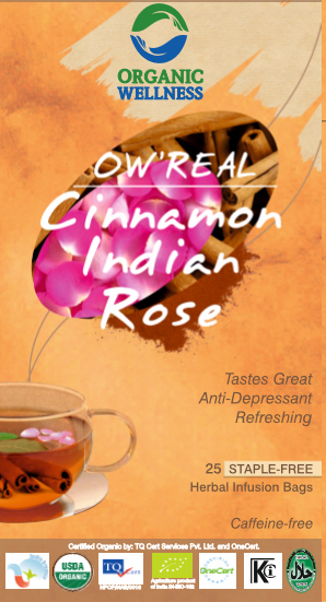 Organic Wellness - Real Cinnamon Indian Rose Tea Bags