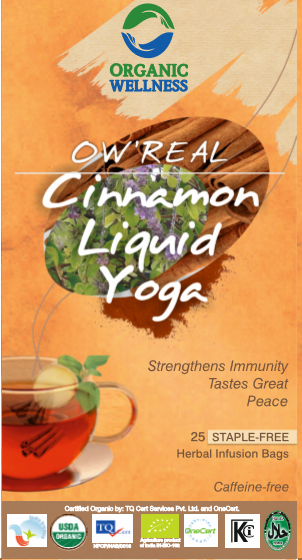 Organic Wellness - Real Cinnamon Liquid Yoga Tea Bags