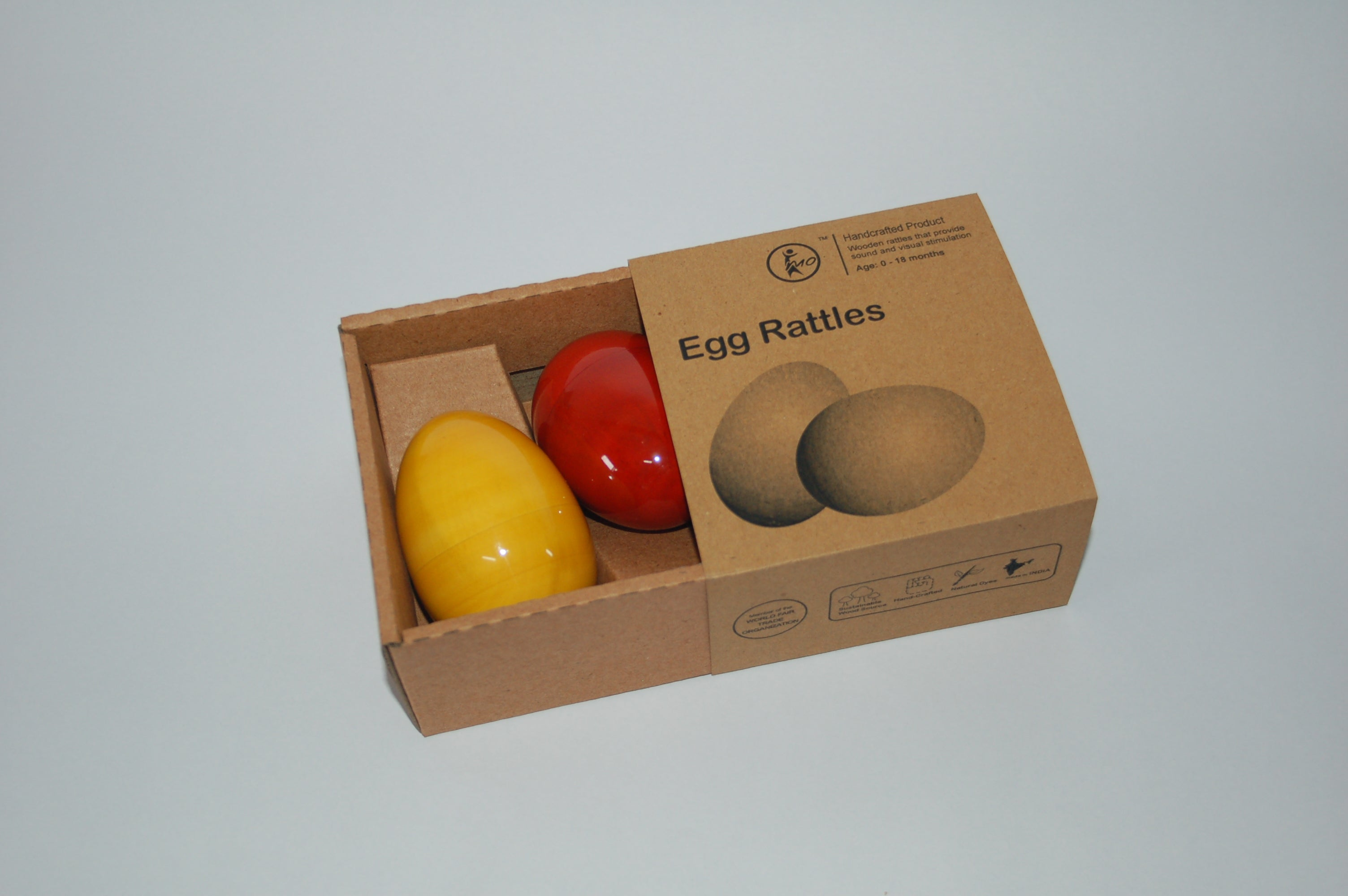 Maya Organic - Egg Rattle (Set of 2)