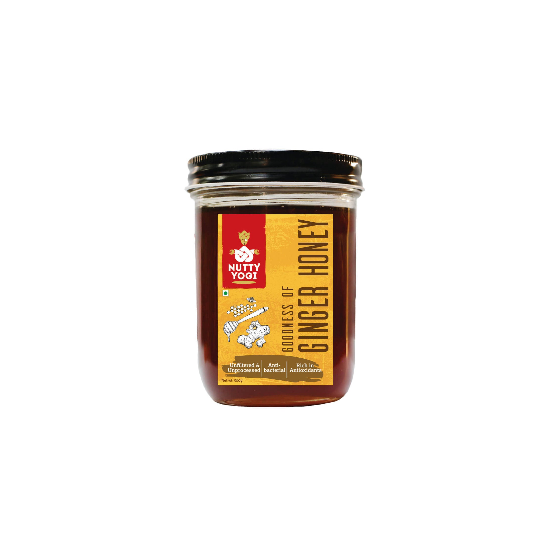 Nutty Yogi Ginger Honey 400g