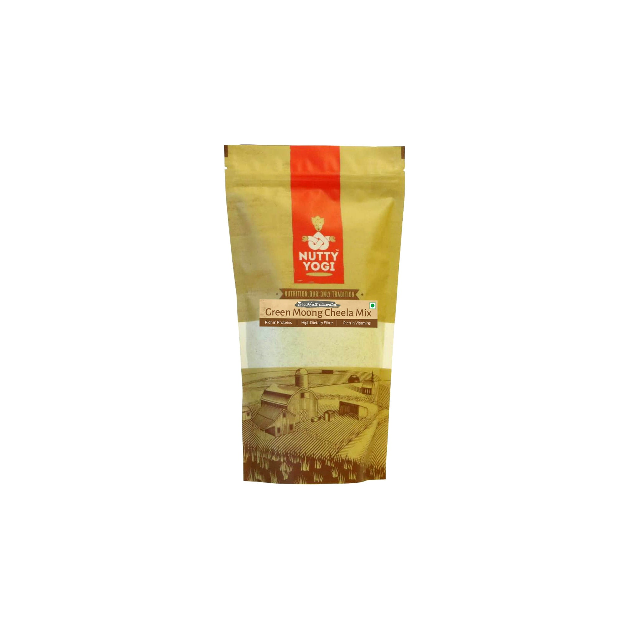 Nutty Yogi Green Moong Daal Cheela Mix 400g
