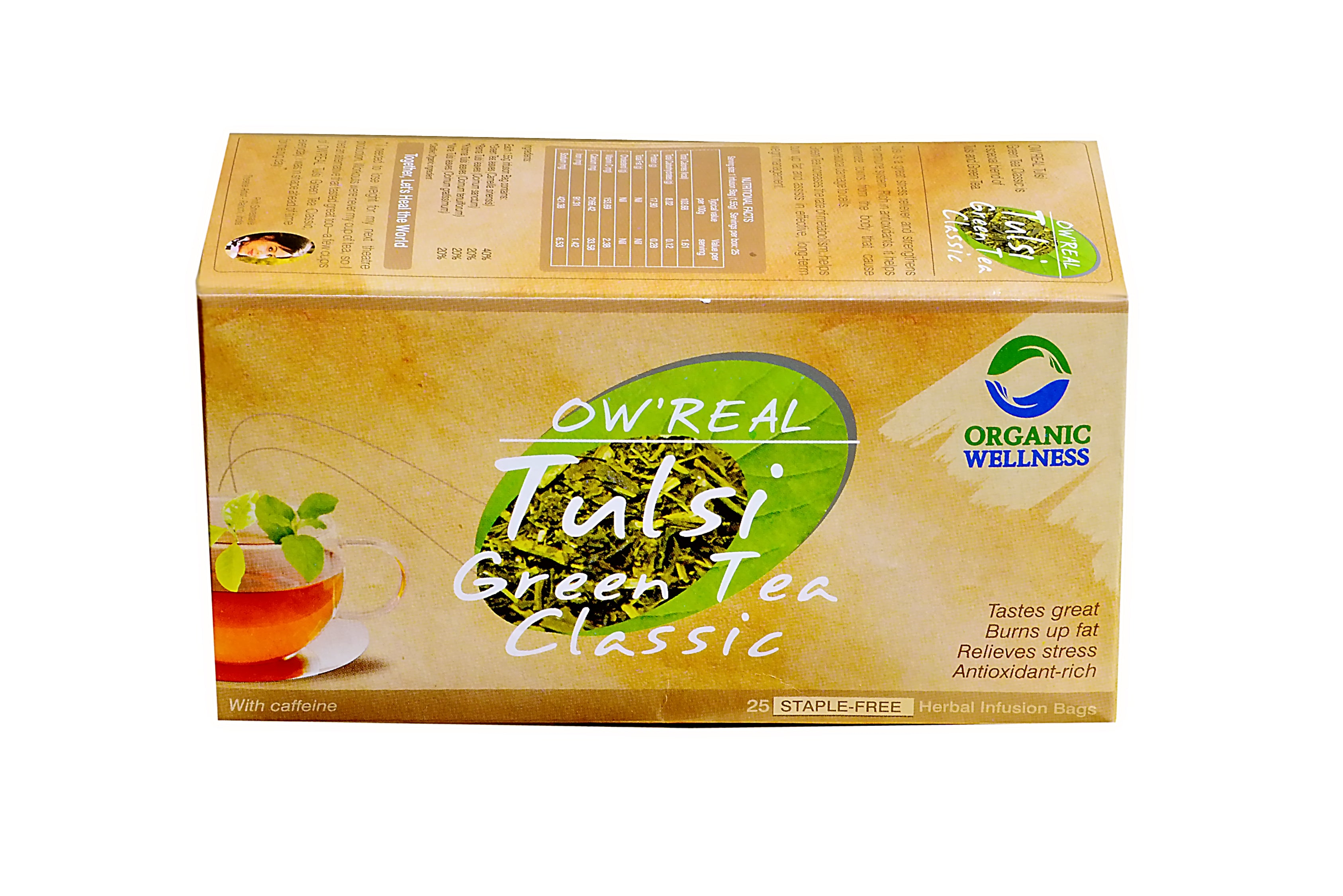 Organic Wellness - Real Tulsi Green Tea Classic Tea Bags