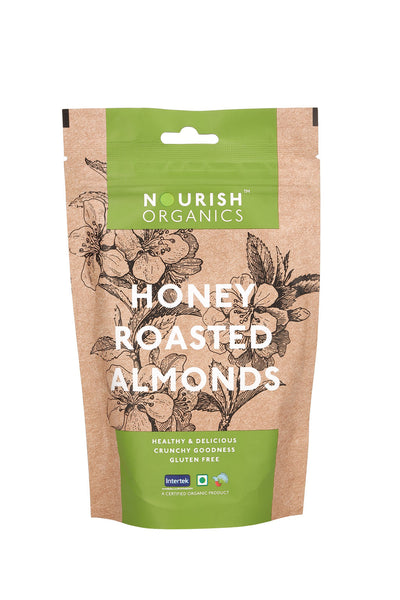 Nourish Organic's Honey Roasted Almonds 100G