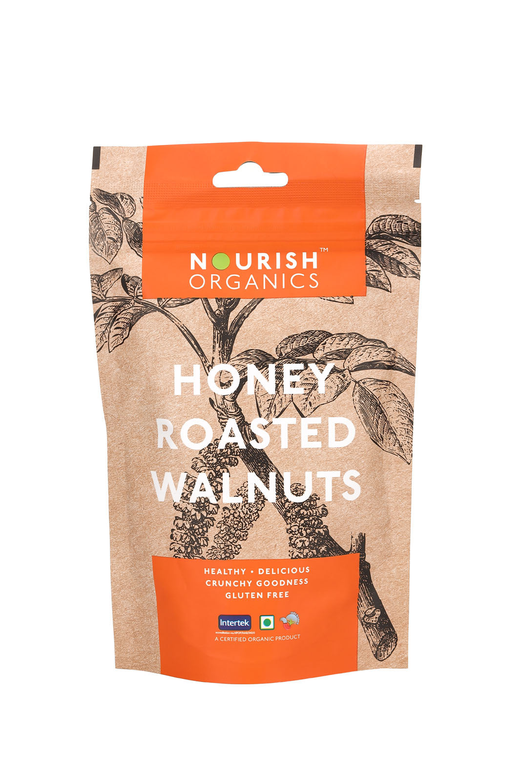 Nourish Organics - Honey Roasted Walnuts 100g