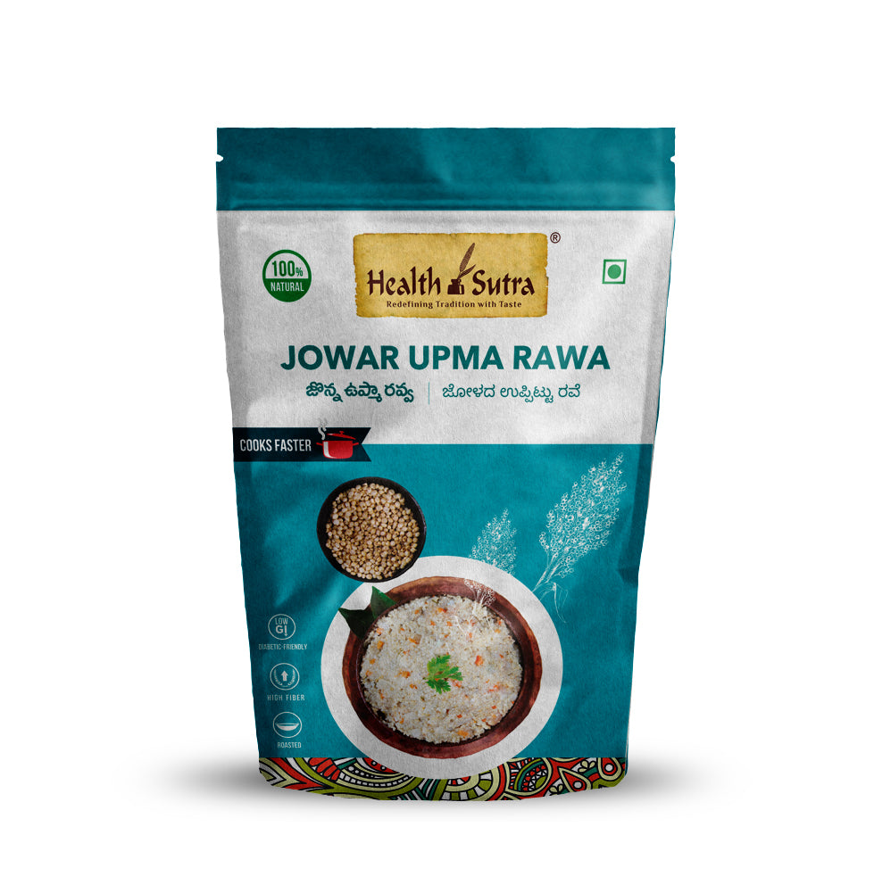 Health Sutra - Jowar Upma Rawa Roasted - 500g