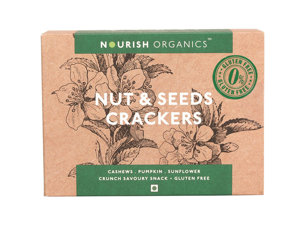 Nourish Organic's Nut & Seeds Crackers 120G