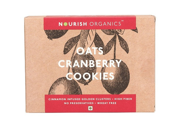 Nourish Organics - Oats Cranberry Cookies 150g