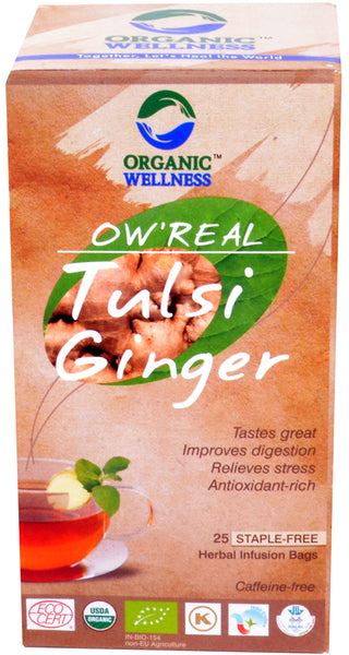 Organic Wellness - Real Tulsi Ginger Tea Bags
