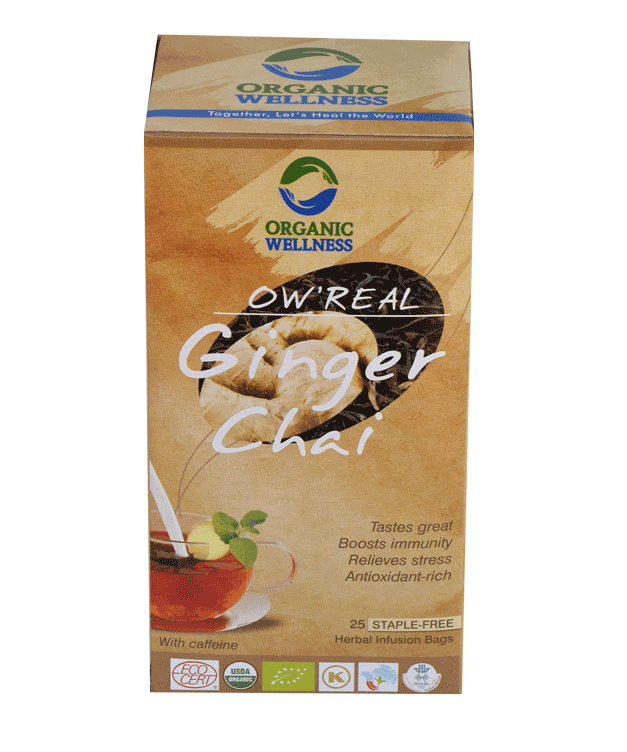 Organic Wellness - Real Ginger Chai Tea Bags