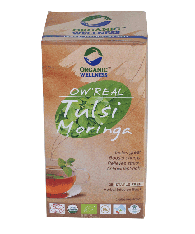 Organic Wellness - Real Tulsi Moringa Tea Bags