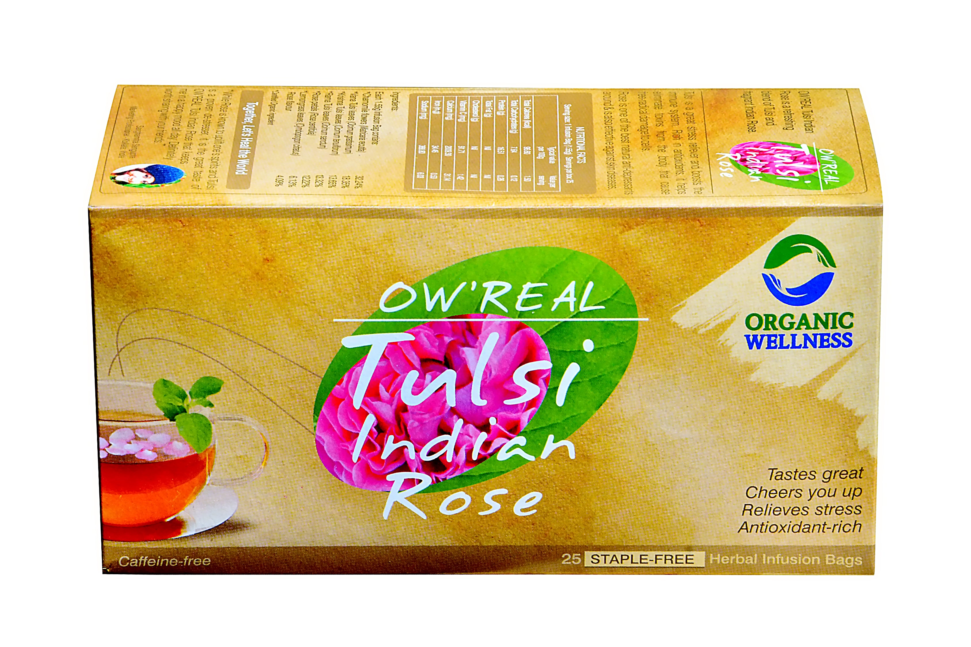 Organic Wellness - Real Tulsi Indian Rose Tea Bags
