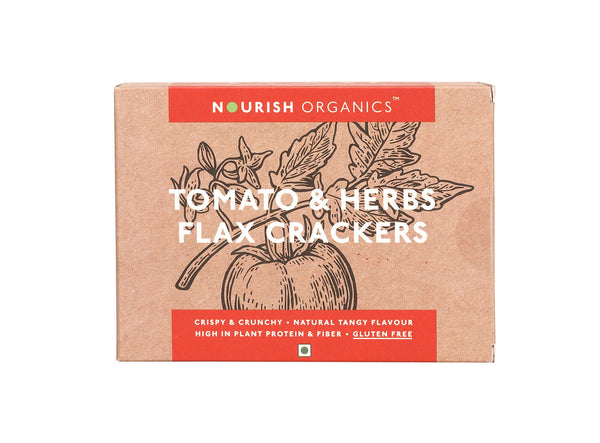 Nourish Organics - Tomato and Herbs Flax Crackers 90g
