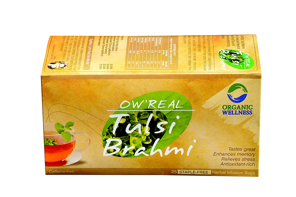 Organic Wellness - Real Tulsi Brahmi Tea Bags