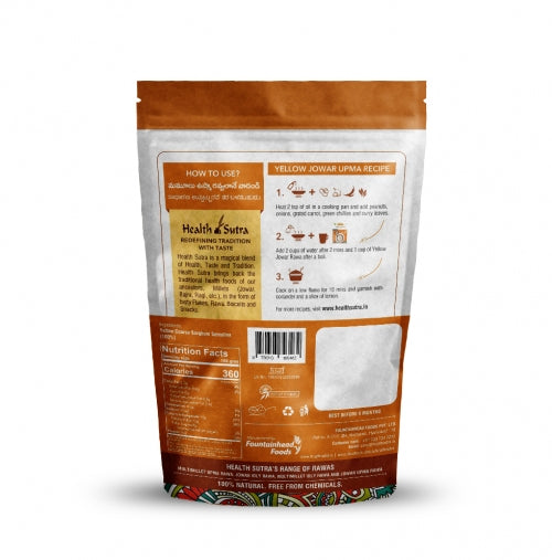 Health Sutra - Yellow Jowar Rawa Roasted - 400g