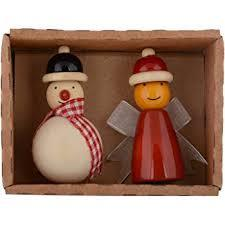 Maya Organic - Fridge Magnets Fairy & Snowman Set