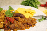 chilli con carne perfect with cheese and stew