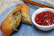 serve Sweet chilli chutney with spring rolls