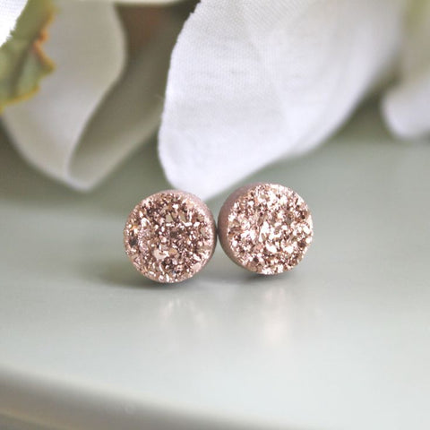 Druzy style sparkling earrings