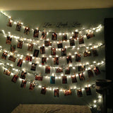 LED photos hanging fairy light clips