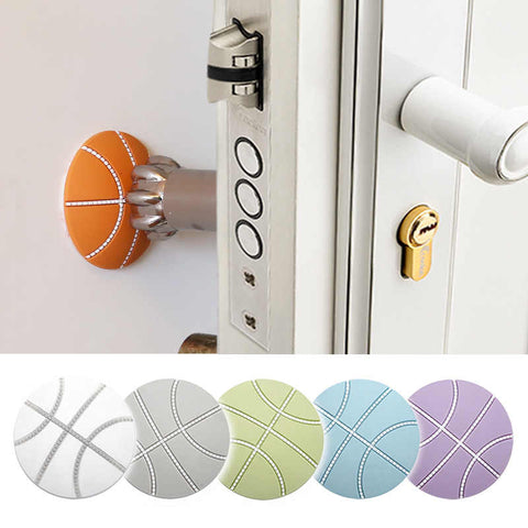Basketball shaped door stopper set of 5
