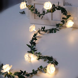 Rose flower LED string lights
